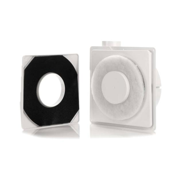 Zehnder Abluftventilator ComfoSpot XR Innenansicht mit Filter Selfio