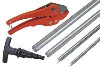 6-teiliges Werkzeug-Komplettset für Alu-Verbundrohr - T-Griff Multi-Kalibrierer / Entgrater für Verbund- und Kunststoffrohr - Rohrschneideschere/-zange -...