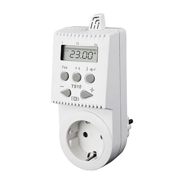 Knebel Thermostat TS10 für Steckdose programmierbar/digital, 230 V 16 A - 80-TS10 Selfio
