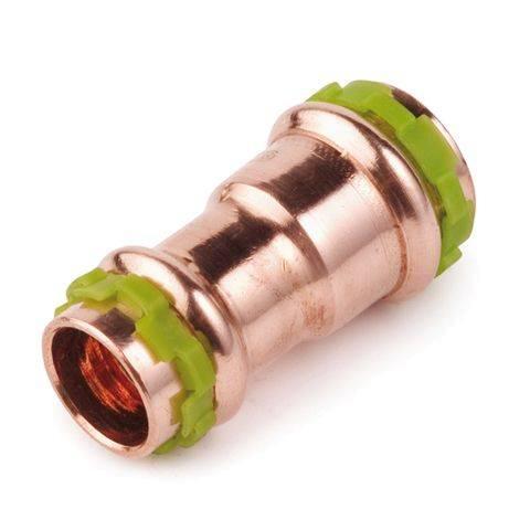 Kupfer Pressfitting SudoPress Kupplung reduziert 15 mm auf 12 mm, VC240