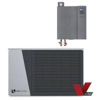 alira V-line - LWDV bis 12 kW duale Luft/Wasser Wärmepumpe mit Hydraulikmodul Komplett Frontansicht 100699HDV1201 Selfio