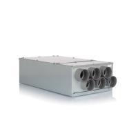 Luftverteiler 6x DN75 für Kunststoff-Flexkanal mit Schalldämpfer DN160