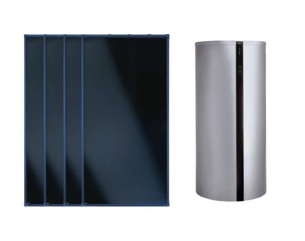 Viessmann Flachkollektor Solar-Paket Vitosol 200-FM 10,04 m² mit Vitocell Kombispeicher 750 l