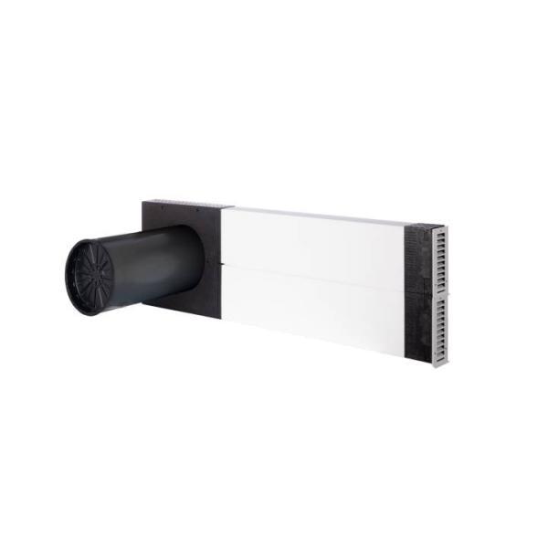 Zehnder Laibungslösung für ComfoSpot 50 Ansicht seitlich Selfio