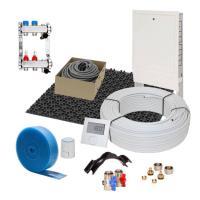 Fußbodenheizung 11 mm Noppensystem 50 qm Komplettset Alu-Verbund Verlegeabstand 10 cm Raumthermostat digital | Selfio