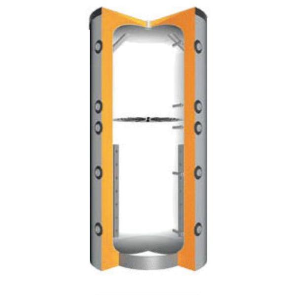 Juratherm Hochleistungs-Pufferspeicher mit Schichtladesystem JPSL 1000, Ansicht Gerät geöffnet