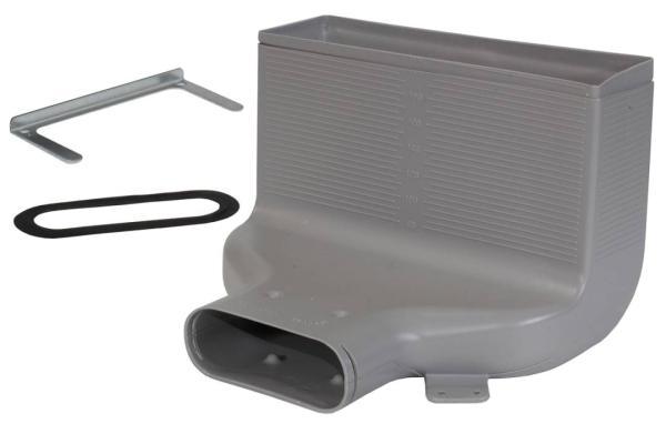 Zehnder Luftdurchlassgehäuse CLF, aus Kunststoff, Farbe grau -Selfio