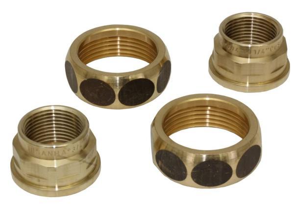 Pumpenverschraubungs-Set aus Rotguss DN 20 IG x 32 IG