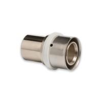 Pressfitting für Aluverbundrohr Selfio-Press Übergang Kupferrohr 32 x 3 mm - 28 mm (Pressanschluss) vernickelt TH & U Kontur von Selfio