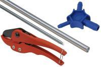4-teiliges Komplettset für Alu-Verbundrohr 16 x 2 mm - 3-Finger Kalibrierer / Entgrater für Verbund- & Kunststoffrohr, Rohrschneidescher/-zange,...