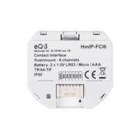 Homematic IP Kontakt-Schnittstelle Unterputz - 6-fach HmIP-FCI6 - Ansicht vorne