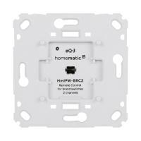 Homematic IP Wired Wandtaster für Markenschalter HmIPW-BRC2 - 2-fach - Ansicht vorne