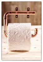 DIY Kupferrohr Bastelpaket - Toilettenpapierhalter