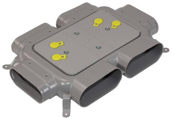 Zehnder Verteiler für 4 Flat 51-Lüftungsrohre ComfoTube-Lüftungsrohre von Zehnder - Selfio