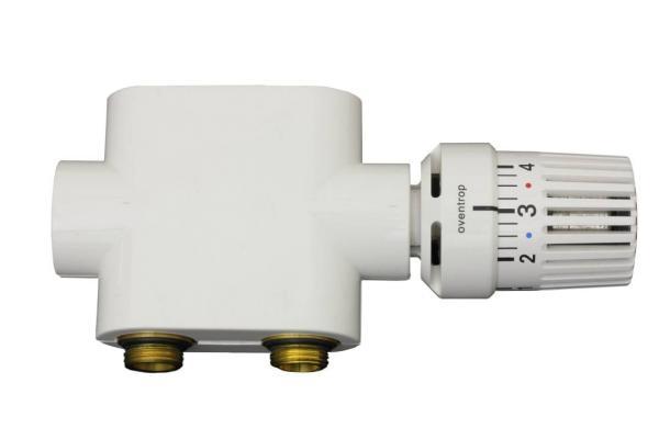 Oventrop Multiblock T Set als Durchgangsform mit Abdeckung und Thermostat - 700014 Selfio