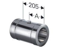 Schornstein Längenelement 205 mm inkl. Messöffnung Edelstahl doppelwandig DW DN 130