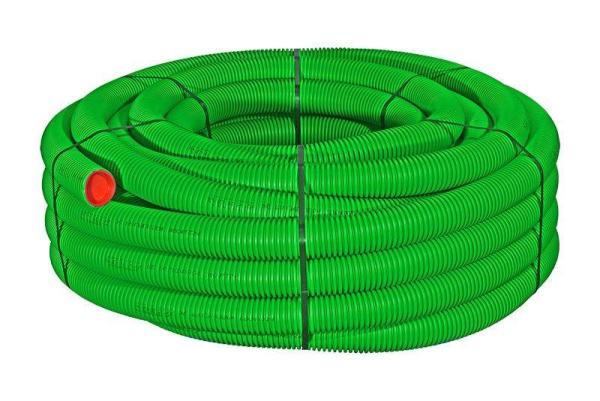 Kunststoff-Flexrohr / Lüftungsrohr, DN75, 50 m, antistatisch und antibakteriell, Farbe grün - Selfio