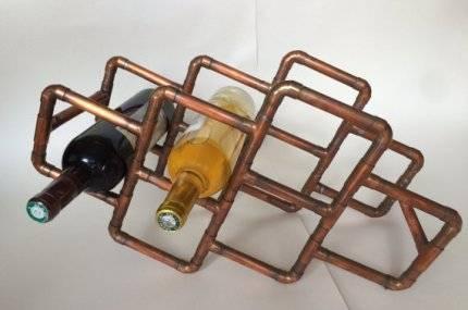 Deko-aus-Kupferrohren-Flaschenhalter-Selfio