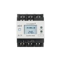 Homematic IP Wired Schaltaktor HmIPW-DRS8 - 8-fach 151677A0- Ansicht vorne Display an