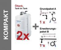 SCHÜTZ Öl-Lagerbehälter Kompakt 2 x 1000 Liter Paket, Tank im Tank - T102-1000K
