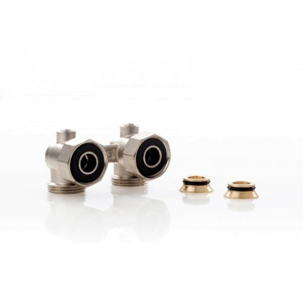 Simplex Hahnblock E2/50 Standard, Eckform, für Heizkörper mit ¾ Zoll AG - F10017 Selfio