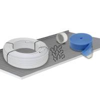Fußbodenheizung Tackersystem 30 mm Alu-Verbundrohr Verlegeabstand 10 cm Basis Set 80 m² - Lieferumfang: Tacker-Faltplatte 30 mm, Alu-Verbundrohr,...