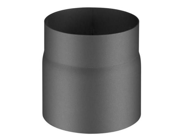 Rauchrohr 150 mm, anthrazit, Ø 150 mm Frontansicht