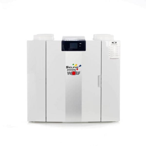 Selfio Zentrales Lüftungsgerät CWL-2 325, Ansicht Vorderseite, Farbei weiß