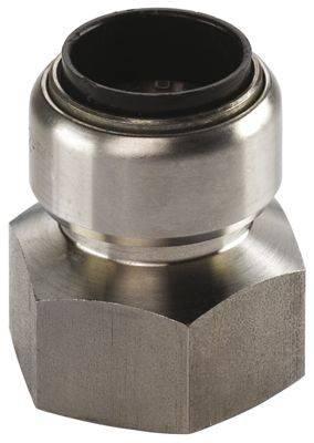 Steckfitting Tectite Übergangsmuffe 15 mm auf IG Rp ½ Zoll Edelstahl TS270G
