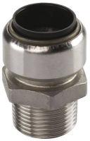 Steckfitting Tectite Übergangsnippel 15 mm auf AG R ½ Zoll Edelstahl TS243G1512 | Selfio