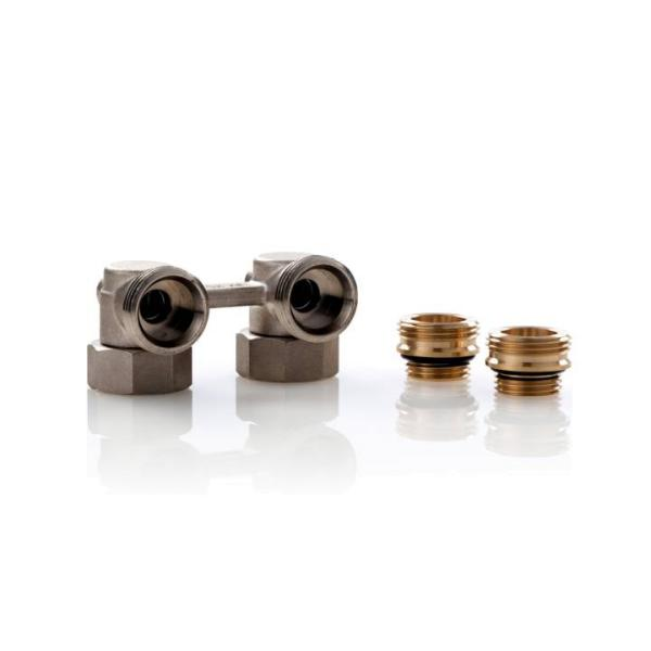 Simplex Hahnblock E1/50 Standard, Eckform, für Heizkörper mit ½ Zoll IG - F10013 Selfio