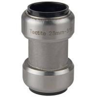 Steckfitting Tectite Schiebemuffe ohne Anschlag 28 x 28 mm Edelstahl TS270S | Selfio