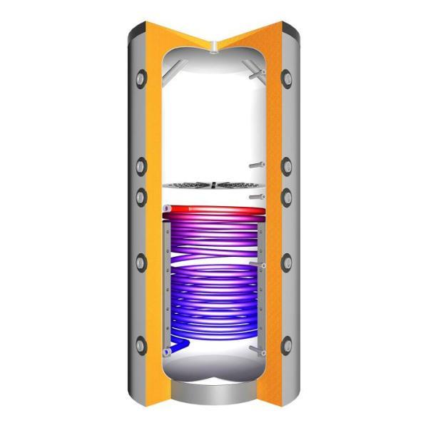 Juratherm Hochleistungs-Pufferspeicher mit Schichtladesystem und 1 Wärmetauscher JPSLR 1500 - 1571500 von Selfio