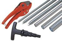 8-teiliges Werkzeug-Komplettset für Alu-Verbundrohr 16 x 2, 20 x 2, 26 x 3, und 32 x 3 mm - T-Griff Multi-Kalibrierer / Entgrater für Verbund- und...
