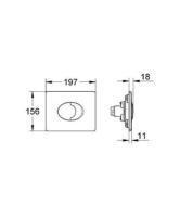 Abdeckplatte SKATE AIR für Wand-WC, waagerecht