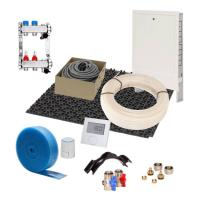 Fußbodenheizung 30 mm Noppensystem 10 qm Komplettset PE-RT Verlegeabstand 10 cm Raumthermostat digital | Selfio