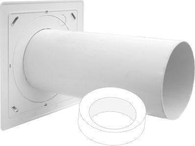 Limodor Außenwandhülse AWH 100/80 für Kleinraumventilatoren Selfio