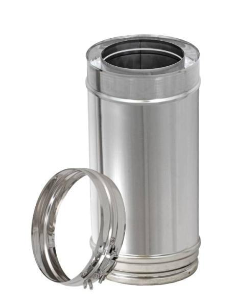 250 mm Längenelement für Edelstahl Schornstein doppelwandig DN 100