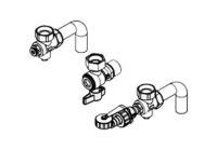 Viessmann Anschlusszubehör für Vitodens 100-W Gas-Brennwert-Heizgerät Aufputz-Montage Zeichnung Selfio