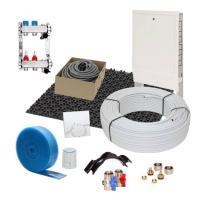 Fußbodenheizung 35 mm Noppensystem 10 qm Komplettset Alu-Verbund Verlegeabstand 15 cm Raumthermostat analog | Selfio