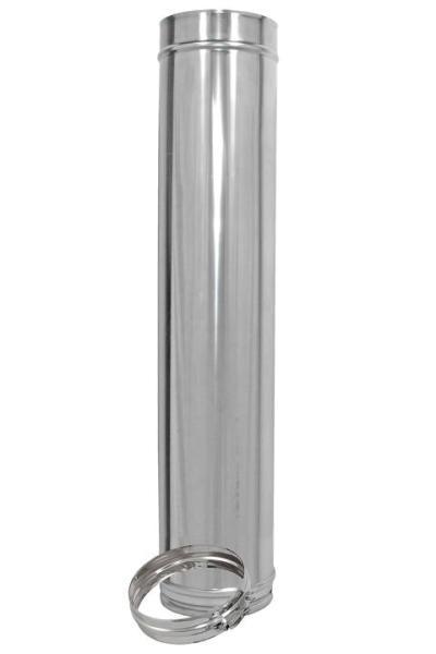 1000 mm Längenelement für Edelstahl Schornstein doppelwandig DN 150