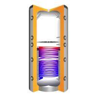 Juratherm Hochleistungs-Pufferspeicher mit Schichtladesystem und 1 Wärmetauscher JPSLR 500 - 157500 von Selfio