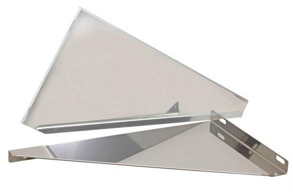 Konsolenelemente für Wandmontage Edelstahl Schornstein doppelwandig Wandabstand 50 mm DN 100