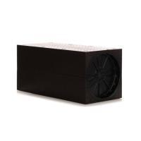 Zehnder Wandeinbaurohr quadratisch, Farbe schwarz für das dezentrale Lüftungsgerät ComfoAir 70 Selfio