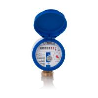 Garten-Wasserzähler Aufputz für Kaltwasser, Set mit Anschlussmaterial, Baulänge 110 mm