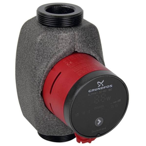 Grundfos Hocheffizienz-Umwälzpumpe Alpha1 32-60 180 Modell B Frontansicht
