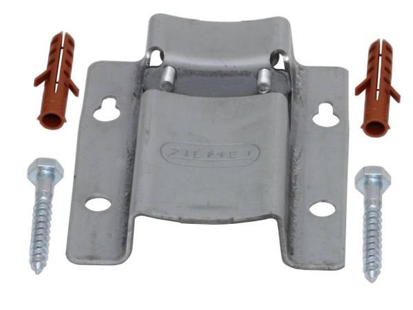Zilmet Halterung ZWH-H für Ausdehnungsgefäße Zilflex H bis 25 Liter Kompletter Lieferumfang bestehend aus: 2 x Dübel, 2 x Schrauben, 1 x Halterung