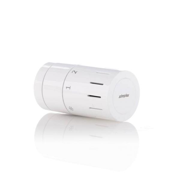 Simplex Design Heizkörper-Thermostat, Ansicht seitlich - Selfio