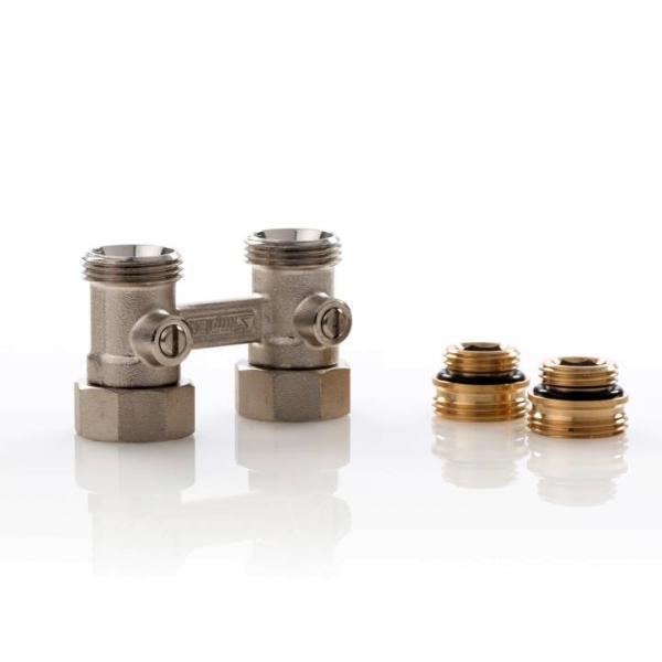 Simplex Hahnblock D1/50 Standard, Durchgangsform, für Heizkörper ½ Zoll IG - F10011 Selfio
