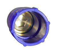 Baustopfen mit Messinggewinde 1/2 Zoll blau (Press-, Prüf-, Blindstopfen)